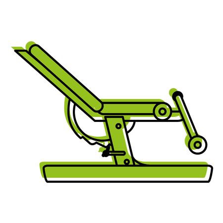 leg curl gym machine fitness icon image vector illustration design  green color Illustration