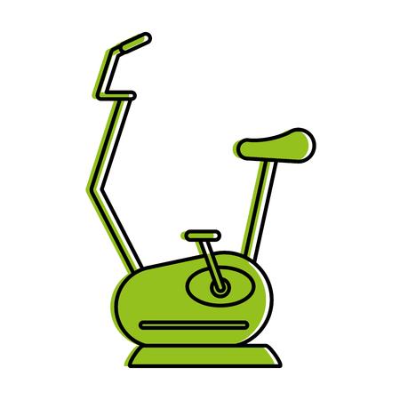 spinning or stationary bike fitness icon image vector illustration design  green color