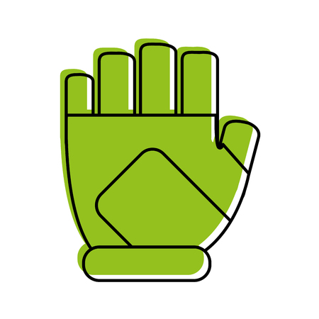 fingerless gloves icon image vector illustration design  green color Illustration