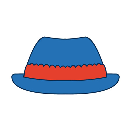 hat for men in switzerland culture clothes vector illustration