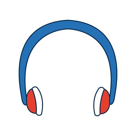 winter clothes earmuffs bright accessory vector illustration