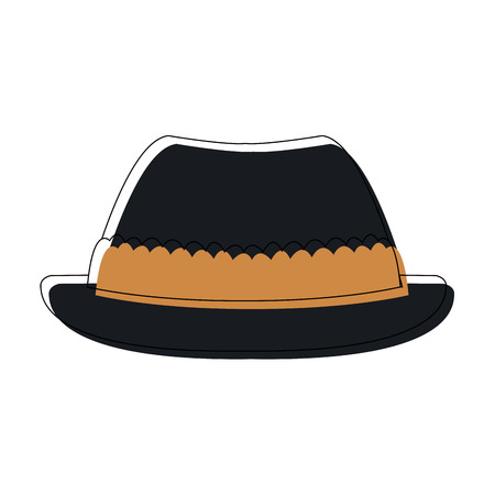 hat for men in switzerland culture clothes vector illustration