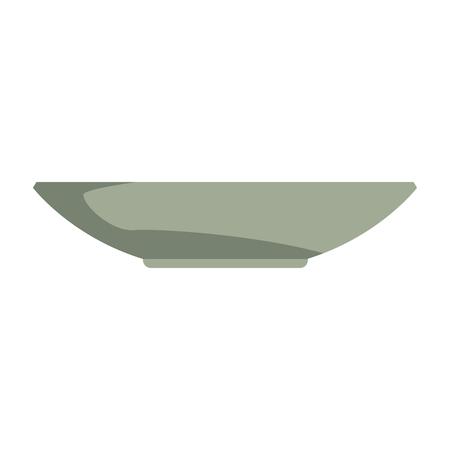 dishware prepare food kitchen utensil vector illustration