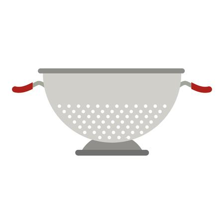 metal kitchen strainer cooking element icon vector illustration Vetores