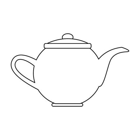 kettle coffee tea hot beverage fresh vector illustration Illustration
