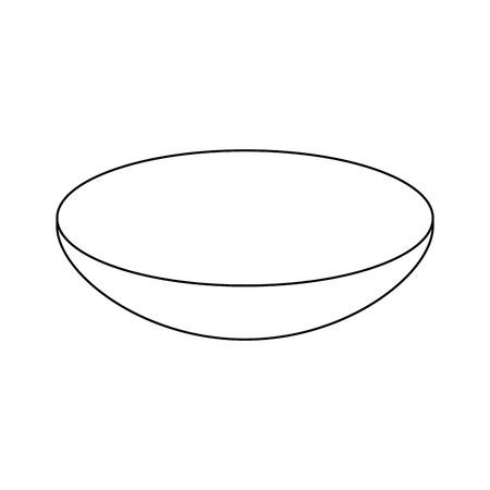 bowl dishware prepare food kitchen utensil vector illustration