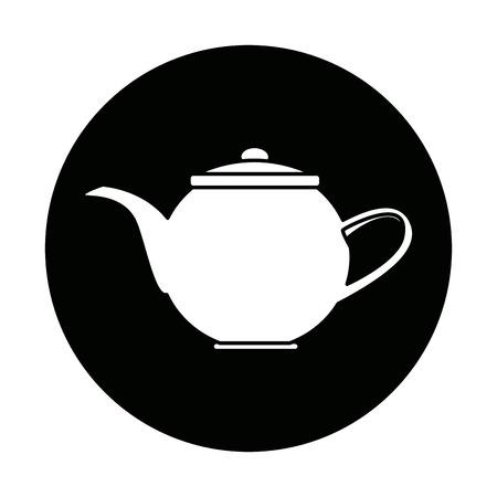 bollitore tè tè caldo bevanda fresco illustrazione vettoriale