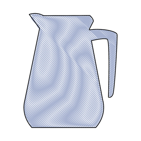 pitcher kitchenware cooking utensil handle empty vector illustration Illustration