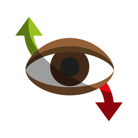 eye with arrow indicating movement icon image vector illustration design