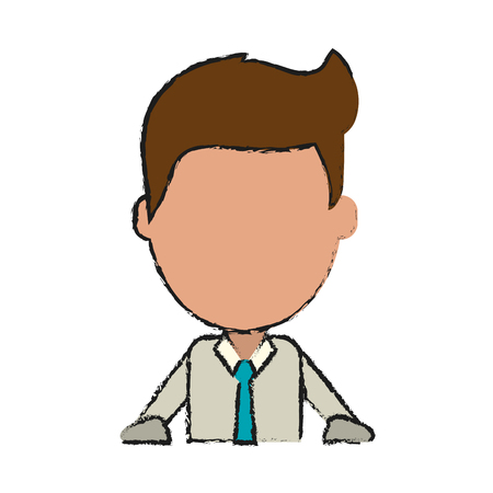 businessman with rolled up sleeves avatar icon image vector illustration design Illustration