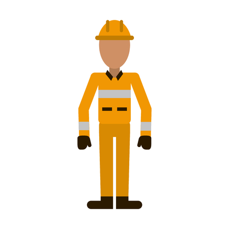 male firefighter avatar icon image vector illustration design