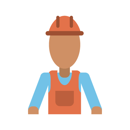 male construction worker contractor avatar icon image vector illustration design