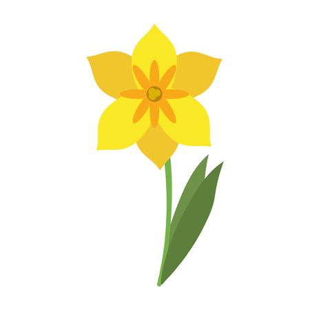 Illustrazione vettoriale illustrazione vettoriale giallo delicato icona del fiore Archivio Fotografico - 84044746
