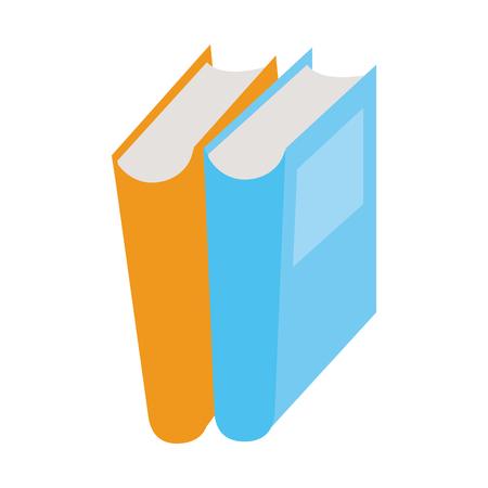 two closed books icon image vector illustration design