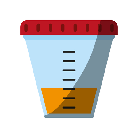 Urine sample cup healthcare related icon image vector illustration design.