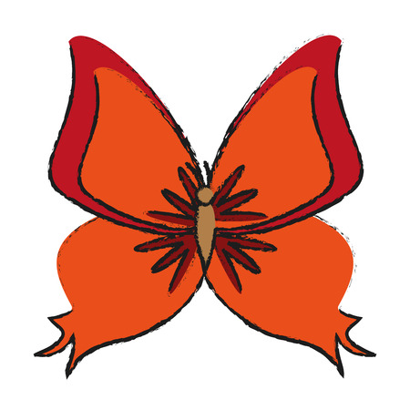 butterfly insect icon image vector illustration design Illustration
