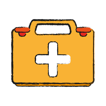 heart disease: first aid kit healthcare related icon image vector illustration design Illustration