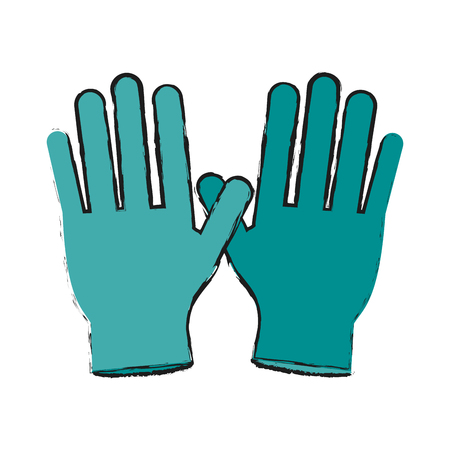 insured: gloves healthcare related icon image vector illustration design