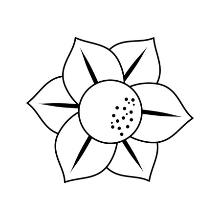 delicate flower icon image vector illustration design