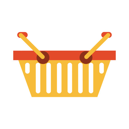 A shopping basket icon image vector illustration design illustration.