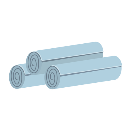 A rolled towels spa center related icon image vector illustration design. Illustration