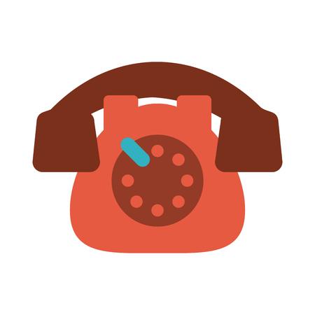 rotary phone vintage icon image vector illustration design