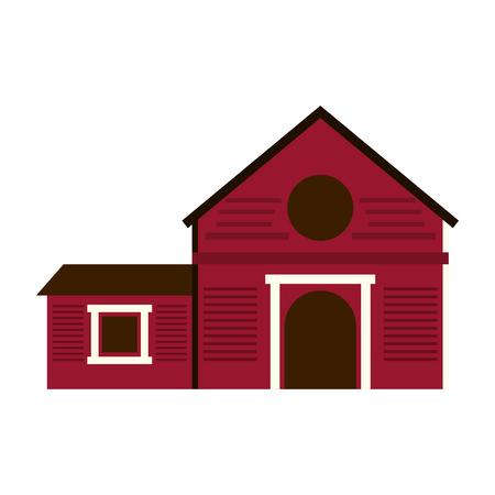 ranch casa icona illustrazione vettoriale illustrazione