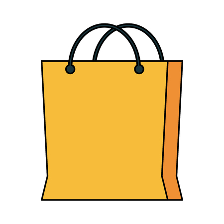supermarket: shopping bag icon image vector illustration design Illustration