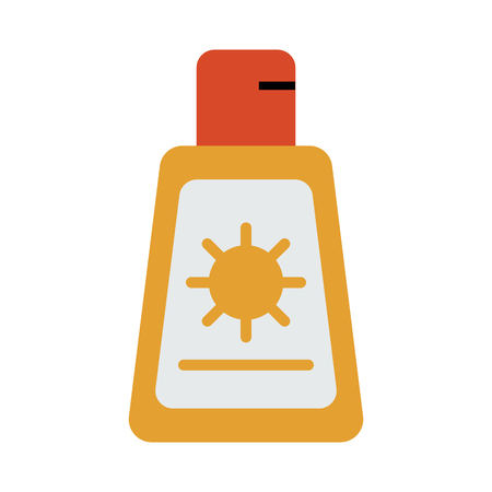 Sunscreen or sunblock icon image vector illustration design