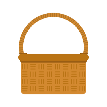 A picnic basket icon image vector illustration design.