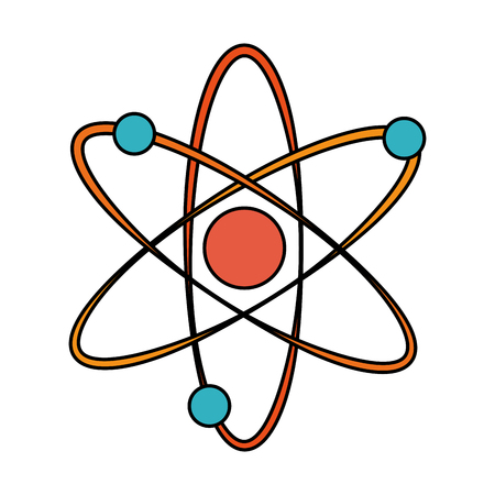 representation of atom icon image vector illustration design