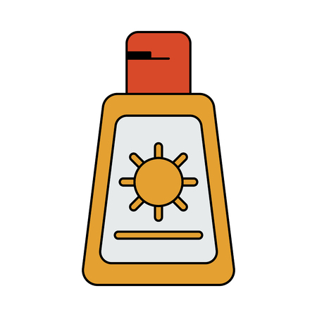 A sunscreen or sunblock icon image vector illustration design. Illustration