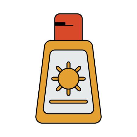 sun block: A sunscreen or sunblock icon image vector illustration design. Illustration