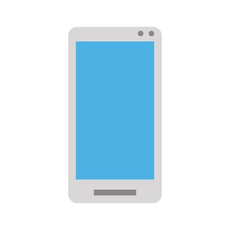 wireless communication: smartphone with blank screen  icon image vector illustration design Illustration