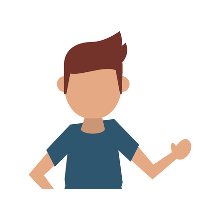 hair style: man lifting hand  avatar icon image vector illustration design Illustration