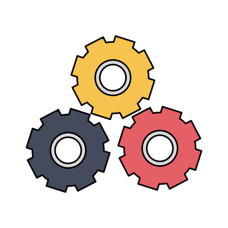 Three gears icon image vector illustration design Illustration