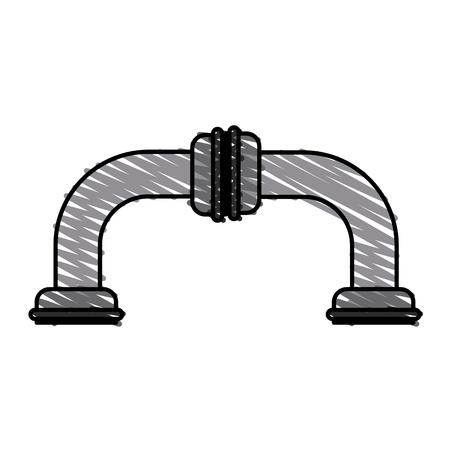 leak: Colorful pipes doodle vector illustration