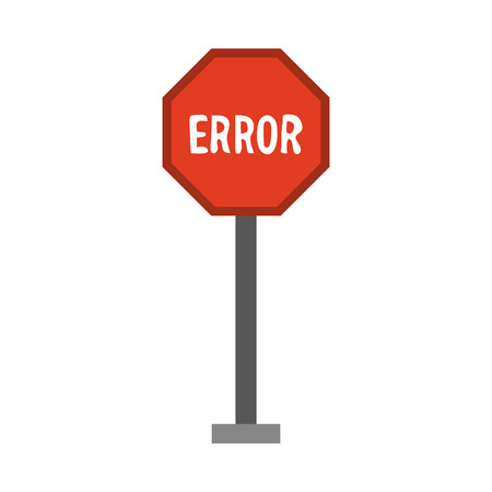 guideline: A error traffic sign icon image vector illustration design. Illustration