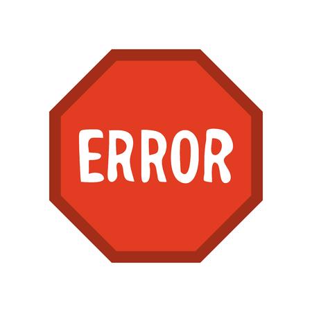 guideline: error traffic sign icon image vector illustration design
