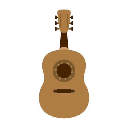 guitarron acoustic guitar icon image vector illustration design Illustration