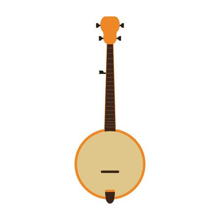 acoustic guitar banjo icon image vector illustration design