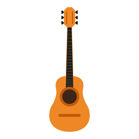 event party: acoustic guitar icon image vector illustration design