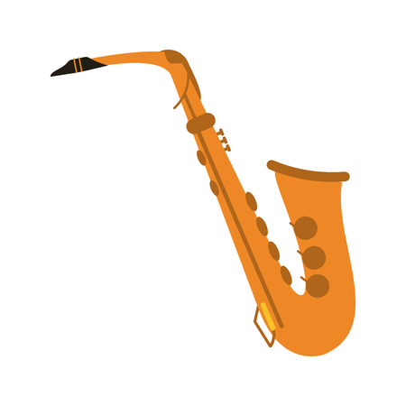 Saxophone musical instrument icon image vector illustration design