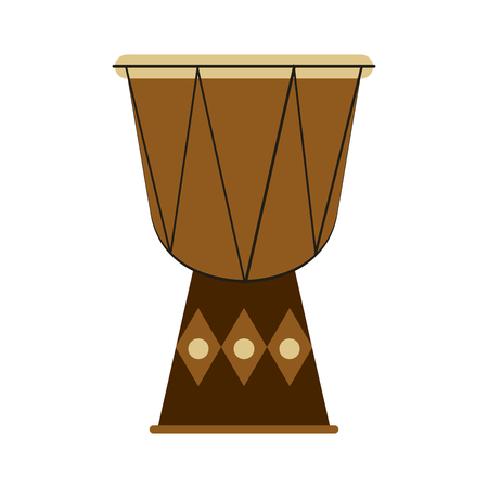 djembe: djembe drum musical instrument icon image vector illustration design