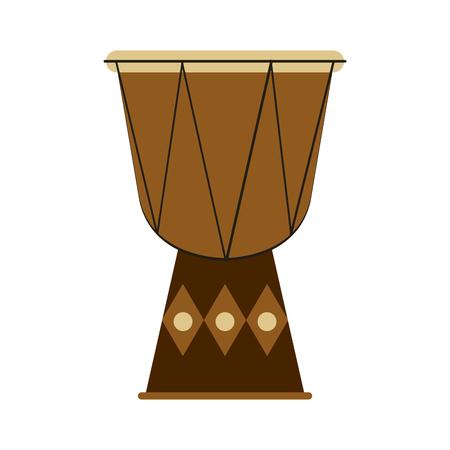 djembe drum musical instrument icon image vector illustration design
