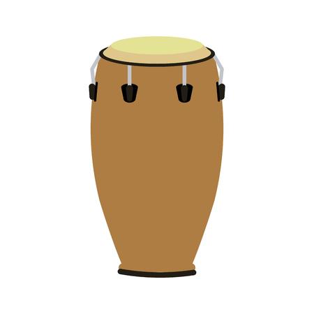 conga drum musical instrument icon image vector illustration design Illustration