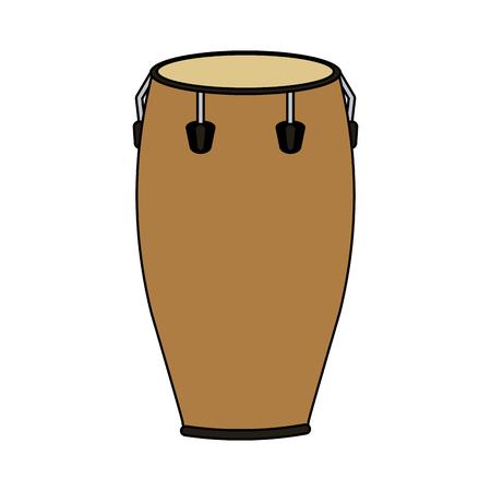 Conga drum musical instrument icon Illustration