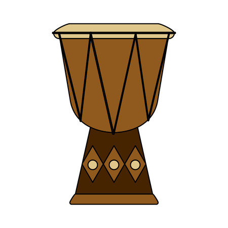 Djembe drum musical instrument icon