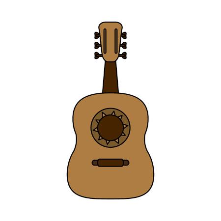 Guitarron acoustic guitar icon image vector illustration design