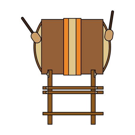 Taiko drum musical instrument icon image Illustration